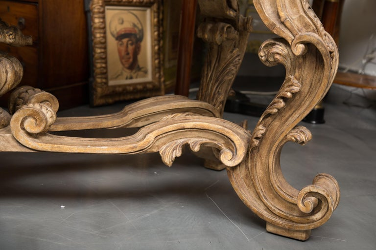 Italian Baroque Style Console Table with Onyx Top For Sale 5
