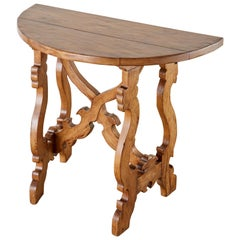 Italian Baroque Style Demilune Wine Tasting Table or Console