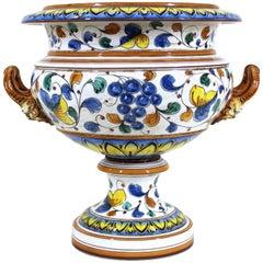 Italian Baroque Style Ginori Painted Ceramic Medici Vase