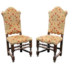 Italian Baroque Style Oak Side Chairs