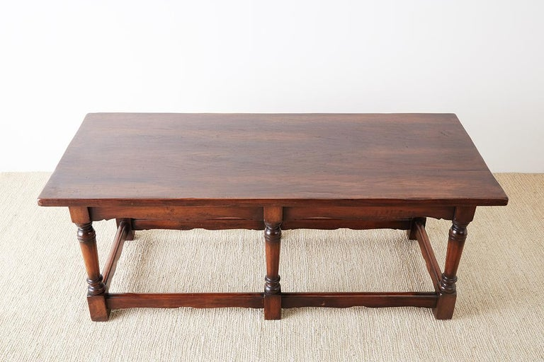 Italian Baroque Style Refectory Table or Library Table For Sale 5