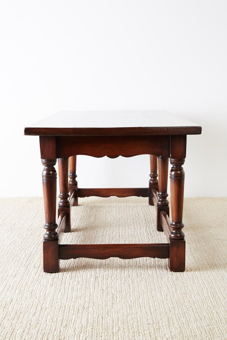 Italian Baroque Style Refectory Table or Library Table For Sale 8