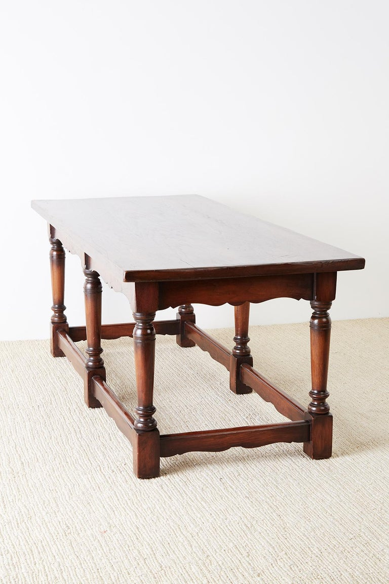Italian Baroque Style Refectory Table or Library Table For Sale 9