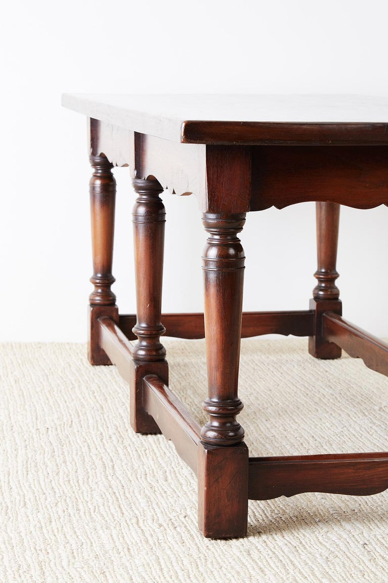 Italian Baroque Style Refectory Table or Library Table For Sale 10