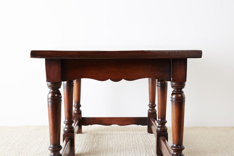 Italian Baroque Style Refectory Table or Library Table For Sale 11
