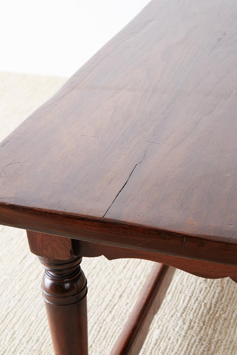 Italian Baroque Style Refectory Table or Library Table For Sale 12