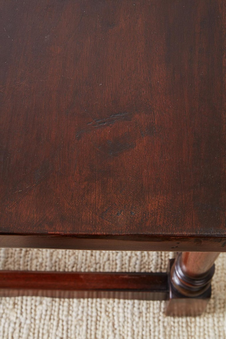 Italian Baroque Style Refectory Table or Library Table For Sale 14