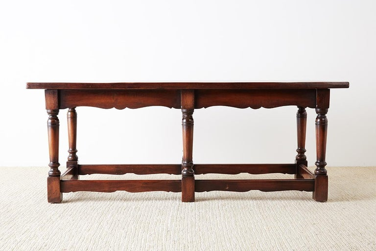 Hand-Crafted Italian Baroque Style Refectory Table or Library Table For Sale