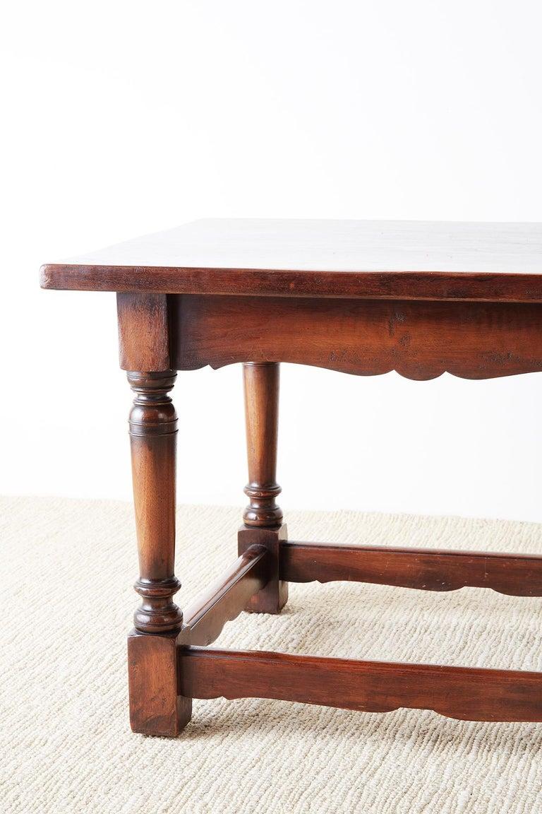 20th Century Italian Baroque Style Refectory Table or Library Table For Sale
