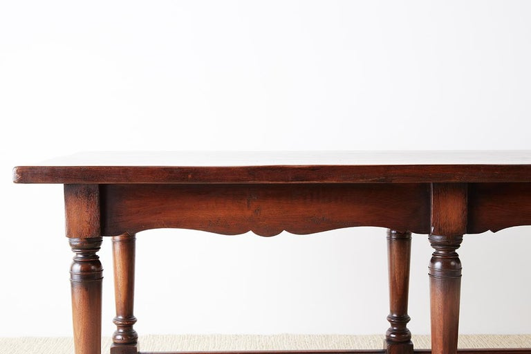 Italian Baroque Style Refectory Table or Library Table For Sale 1