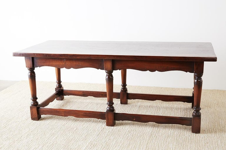 Italian Baroque Style Refectory Table or Library Table For Sale 2