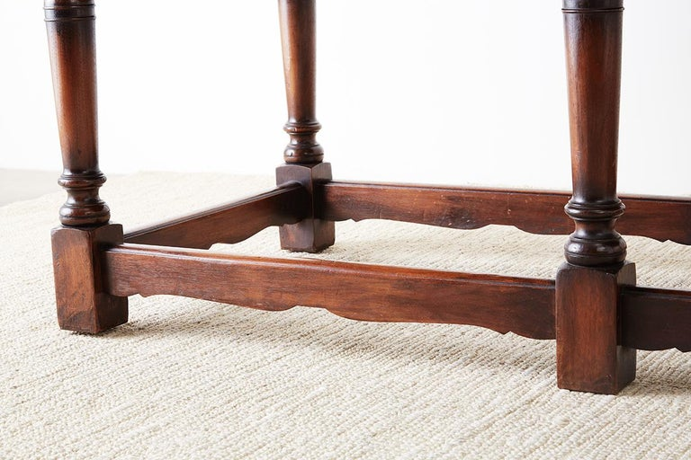 Italian Baroque Style Refectory Table or Library Table For Sale 3