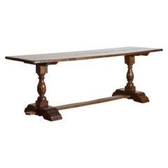 Italian Baroque Style Walnut Refectory Table, 3rd Quarter 19th Century
