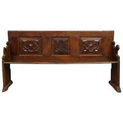 Italian Baroque Walnut Bench