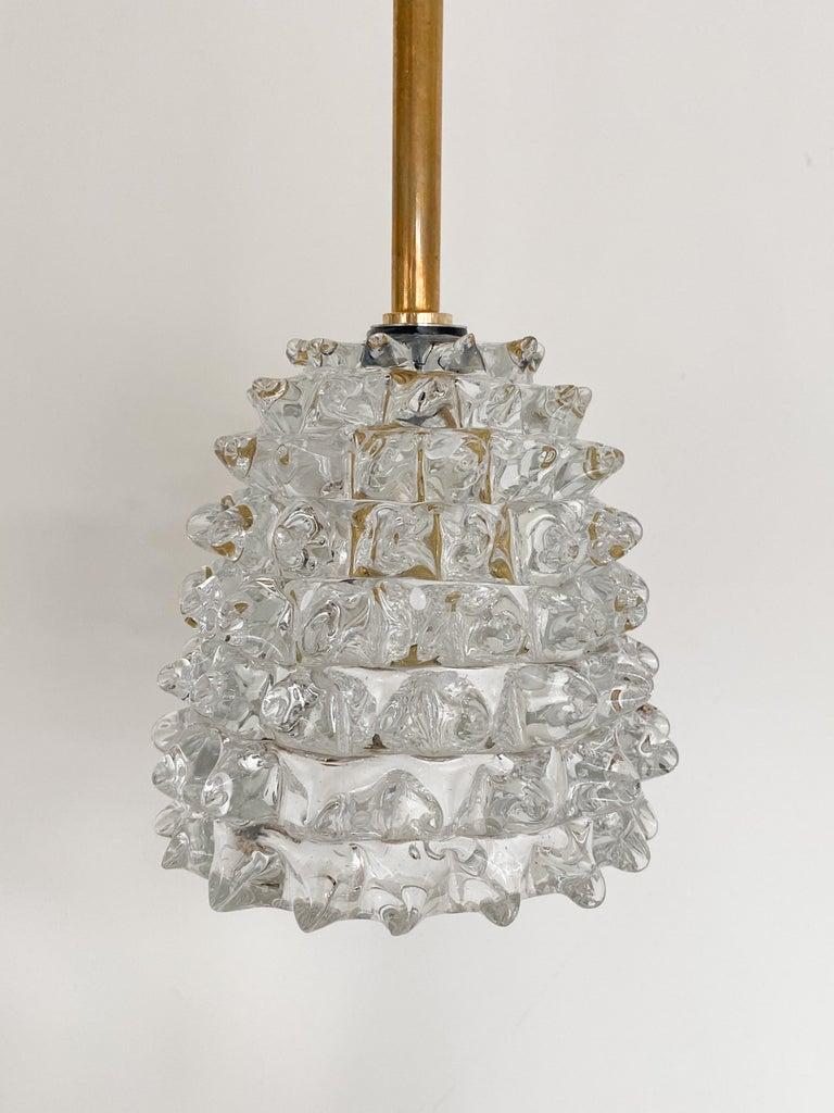 20th Century Italian Barovier Glass Pendant For Sale