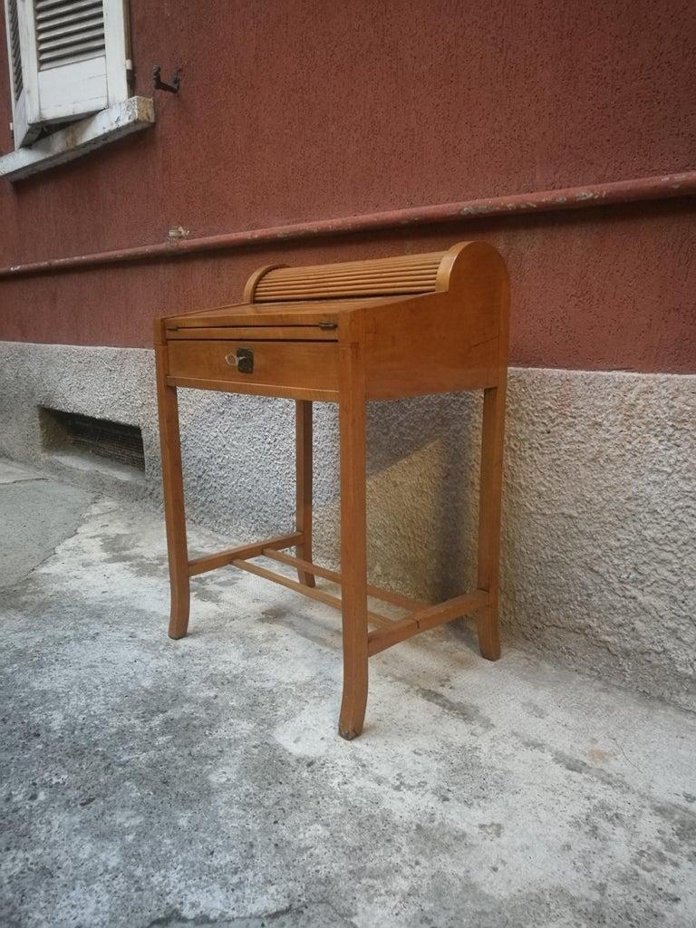 Italian Beech Entrance Cabinet, 1950s For Sale 2