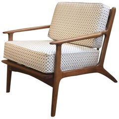 Italian Beechwood Armchair with Cushions from 1960s