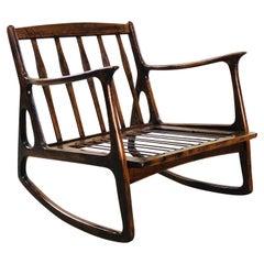 Italian Beechwood Rocking Chair