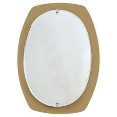 Italian Beveled Smoked Glass Wall Mirror from Veca