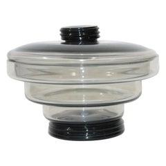 Italian Biscuit Box 1960s Murano Glass Ettore Sottsass, Vistosi Style