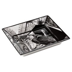 Italian Black and White Porcelain Pocket Tray