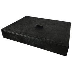 Italian Black Hide Box by B. Home Interiors 'Giobagnara'