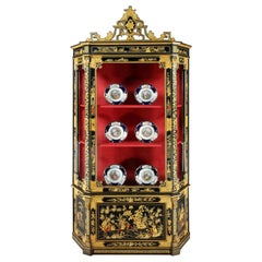 Black Lacquer and Gilt Chinoiserie Cabinet, 19th Century