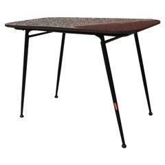 Italian Black Laminate and Metal Rod Folding Coffee Table, 1960s