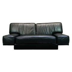 Italian Black Leather 2-Seat Sofa by Arketipo