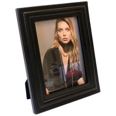 Luxury Italian Black Leather Picture Frame