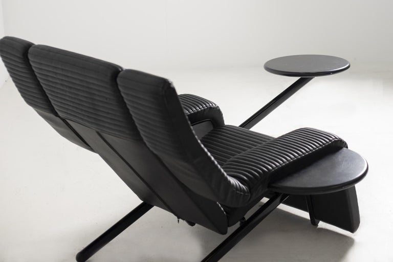 Italian Black Lounge Chair Kilkis by Ammannati & Vitelli for Brunati, 1980s For Sale 2