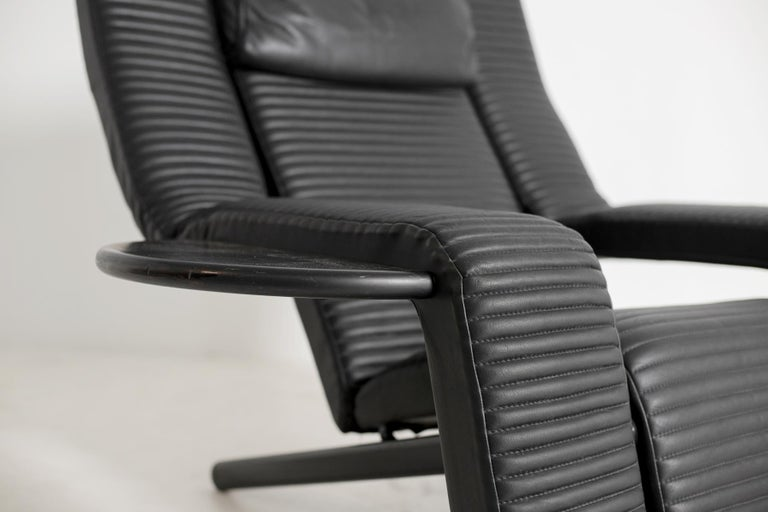 Italian Black Lounge Chair Kilkis by Ammannati & Vitelli for Brunati, 1980s For Sale 3