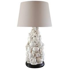 Italian Blanc de Chine Fruit Topiary Table Lamp