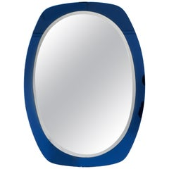 Italian Blue Glass Mirror