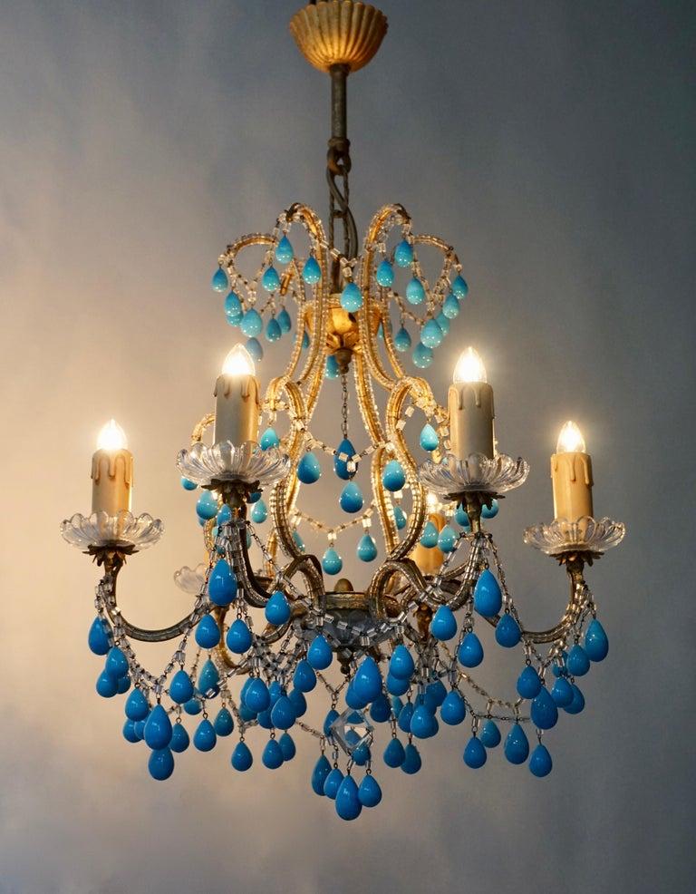 Italienischer Blauer Stein Kronleuchter 12