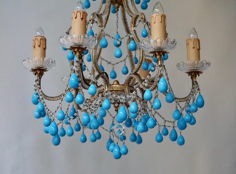 Italienischer Blauer Stein Kronleuchter 13