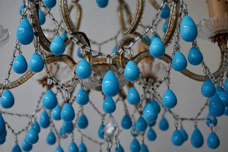 Italienischer Blauer Stein Kronleuchter 14