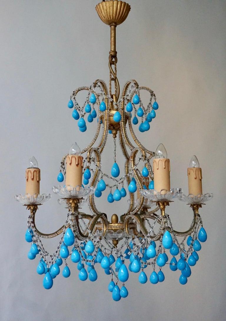 Italienischer Blauer Stein Kronleuchter 15