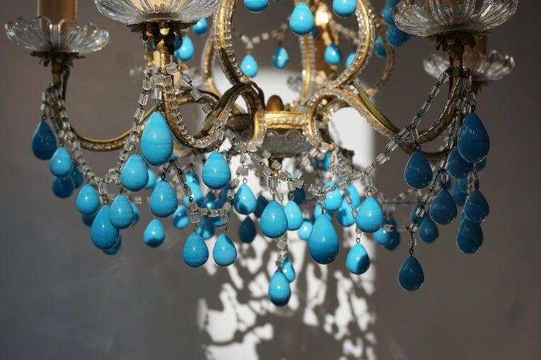 Italienischer Blauer Stein Kronleuchter 17