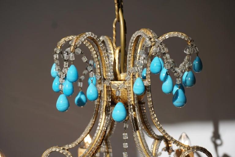 Italienischer Blauer Stein Kronleuchter 19