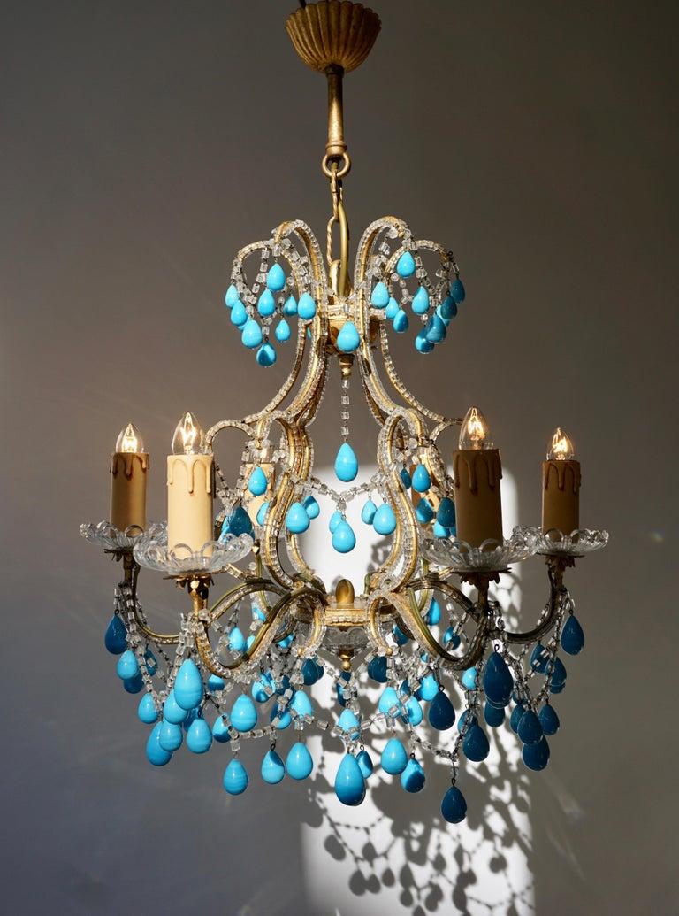Italienischer Blauer Stein Kronleuchter 2