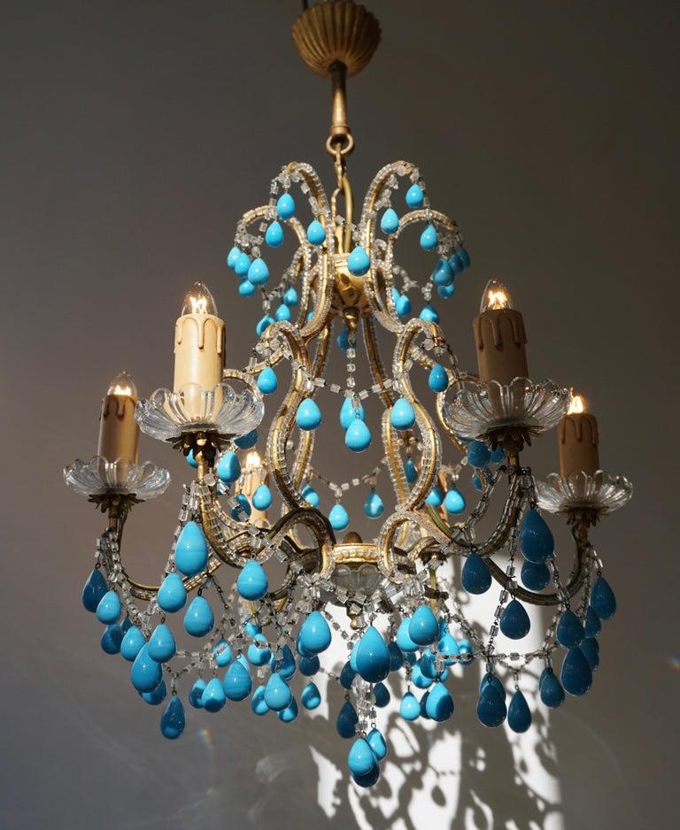 Italienischer Blauer Stein Kronleuchter 3