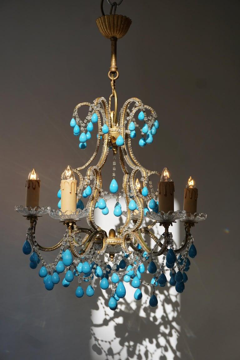 Italienischer Blauer Stein Kronleuchter 4