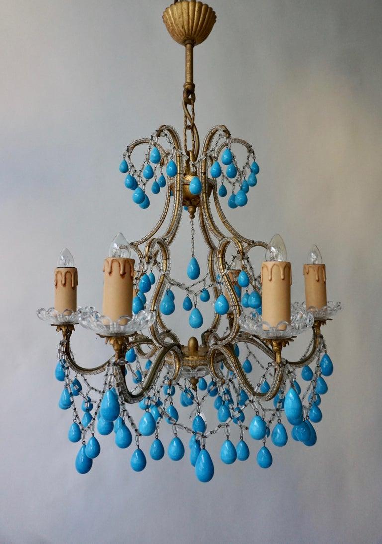 Italienischer Blauer Stein Kronleuchter 6