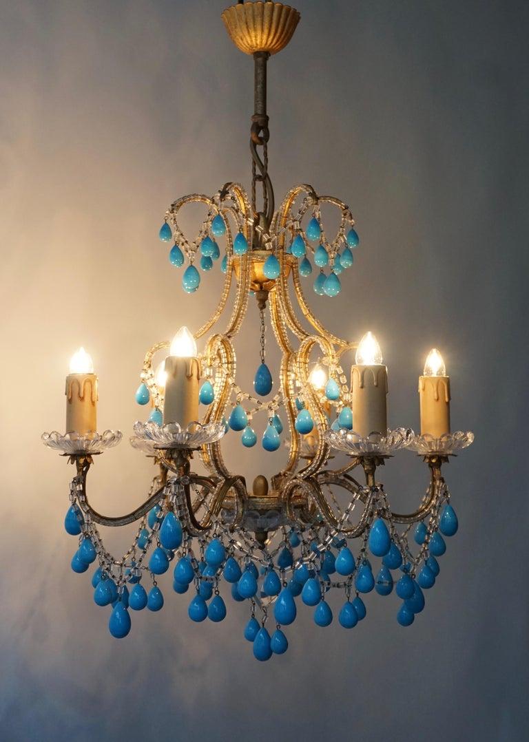 Italienischer Blauer Stein Kronleuchter 8