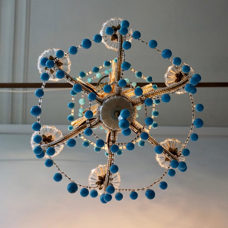Italienischer Blauer Stein Kronleuchter 9