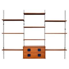 Italian Bookcase Wall Unit in Brazilian Rosewood, 1950s