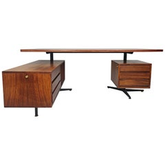 Italian Boomerang Rosewood Desk by Osvaldo Borsani, 1960s