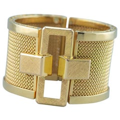 Italian Bracelet 18 Karat Yellow Gold 1960s Solid 150.5 Gram