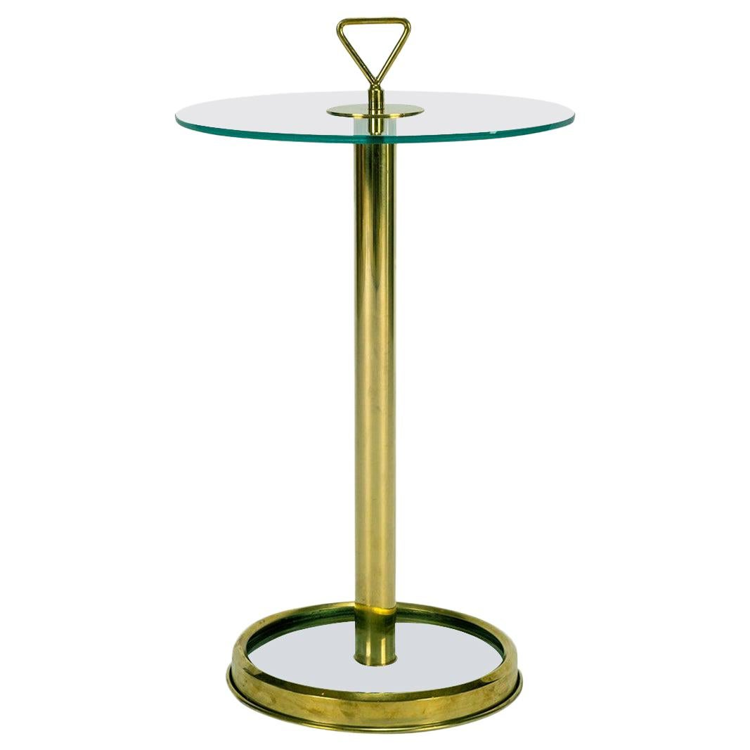 Italian Brass and Glass Occasional Table